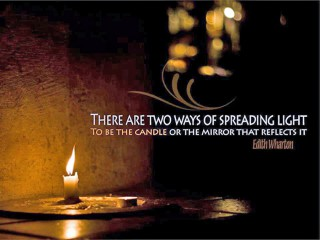 There are 2 ways of spreading light